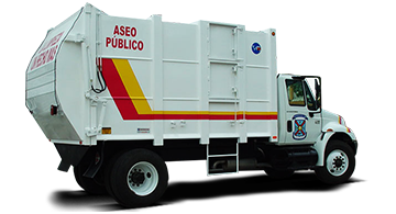garbage collector, garbage truck lsr-8000